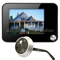 Wholesale New Arrival quot Digital DVR Door Peephole Viewer Monitor Camera Doorbell Motion Detection Free Express order lt no track