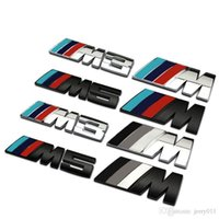 bmw m3 badges - Big Mpower M tech on Car Trunk Badge Emblem D Pure Metal Front Hood Grille Sticker logo M M3 M5 for BMW Car Styling Sticker