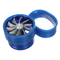 Wholesale New Blue Universal Car Fuel Gas Saver Supercharger For Turbine Turbo Charger Air Intake Fan Turbocharger High Quality