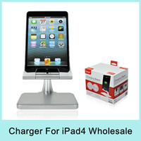 wholesale resale - iPega Aluminium Charging Stand Holder Dock Station Charger for iPad4 iPad mini iPod Touch5 iPhone5 Silver For Resale