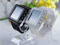 support MP4 - Hot by China Post The lowest price Quad bands Wrist Watch phone AOKE AK812 Support MP3 MP4 bluetooth black white colors