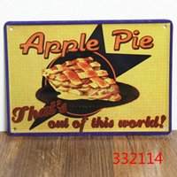 apple pie box - NEW arrival quot delicious apple pie quot metal tin signs vintage wall art craft home decorative plates bar x15cm