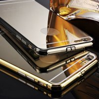 Wholesale Luxury New Aluminum Ultra thin Mirror Metal Case Cover for Apple iPhone Plus