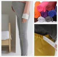 Wholesale Colors New Pregnant Adjustable High elasticity Leggings Maternity Pants Comfortable Leggings