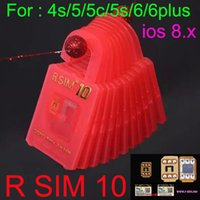 Wholesale Unlock Card R SIM RSIM R SIM RSIM10 r sim directly used for iphone plus s c iOS6 X X WCDMA GSM CDMA DHL