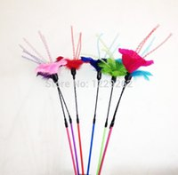 Wholesale Feather flower series of cat cat dangler pet product PC
