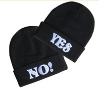 best mens beanies - YES or NO Hats Styles Mens Ladies Womens Sport Beanie Knitted Oversize Beanie Skull Caps Christmas hat Best gifts Casual Hat
