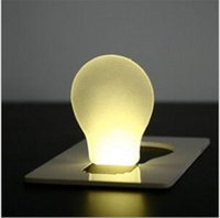 Wholesale New LED night Light mini Card light Portable Wallet Purse Credit Card Size Pocket LED Nightlight Bulb Lamp