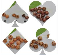 Wholesale x12MM printing wooden beads loose beads DIY beaded jewelry accessories variety optional