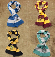 Wholesale Harry Potter Vouge Kids Scarf winter warm scarf Gryffindor Slytherin Hufflepuff Ravenclaw Cosplay Knit Wool Costume Props Scarves Wrap