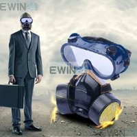 Wholesale New and High Quality Industrial Chemical Gas Anti Dust Spray Paint Dual Respirator Mask With Goggles sets