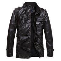 leather clothes - 2015 New Hot Brand Motorcycle Genuine Leather Clothing Men s Leather Jacket Slim Overcoat Vintage Plus Velvet Coat Jackets