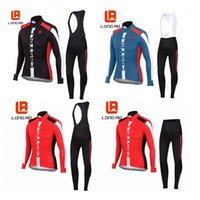 c033 - Mans Ao Breathable Cycling Clothing Long Quick Dry Cycling Jersey and Ropa Ciclismo Gel Pad Bike Bib Pants C033