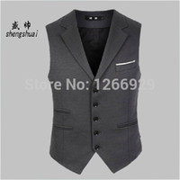 Wholesale Fall Sheng Shuai anti crease business casual suit collar vest vest men cultivating wedding dress colete masculino
