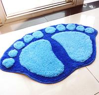 bathroom furnishings - Lovely big feet mat bedroom carpet living room sofa cushion bathroom absorbent pad Housewear Furnishings bath mat