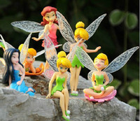 Wholesale High Quality PVC set Tinkerbell Fairy Adorable tinker bell Figures Toy Toys Retail