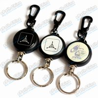 military survival - Military Style Survival Key Chain Rings Tensile Buckles With cm Retractable Strangled Flexible Steel Wire Rope