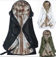 Wholesale Faux fur lining women s fur Hoodies Ladies coats winter warm long coat jacket clothes