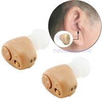 Wholesale A Pair of New Mini ITE Digital Hearing Aid Aids Personal Sound Amplifier