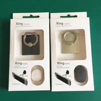 Wholesale Top Grade Universal Cell Phone Ring Stent Holder Metal Rings Stand Mount Holders Finger Grip Stand for iPhone6s With Retail Box CHR