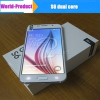 Wholesale In stock S6 G9200 HDC Dual Core MTK6572 G GB G Call smart phone Single Sim Card can Show G LTE