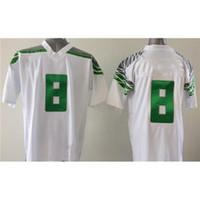 Cheap Cheap Boys College Football Jerseys #8 White American Football Uniforms Stylish Team Players Football Wears New Style Brand Sports Jersey