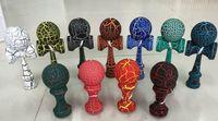 Wholesale Hot kendama wooden toys kendama skills ball Japanese traditional crack jade sword ball mix colors cm