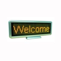 Wholesale LED Display Sign LED Business Signs Yellow Characters LED Message Board Multiple Languages Build In Battery High Quality C1664Y