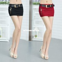 Wholesale 1511 Spring and Summer Slim Hip Women Denim Micro Mini Skirt Fashion Belt Chain Short Skirt Denim Fashion Sexy Mini Skirts Women
