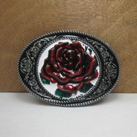 beautiful women jeans - Sale Online New Style Beautiful bloody Roses charms metal model belt buckle For cm in Wide Belt Men Women Jeans accessories