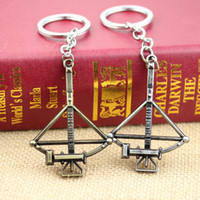 amc walking dead - 2 color AMC TV quot The WALKING DEAD DOG TAG CROSSBOW METAL Keychain Key Ring Pendant Key Chain