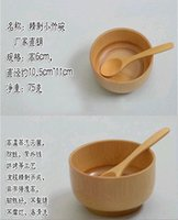 Wholesale Healthy environmental protection natural bamboo bowl of without paint Bamboo bowl of children s tableware trade goods