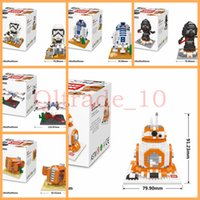 Wholesale 50SET HHA436 Star Wars Toys Building Blocks New Big Size Figures Toys Stormtrooper Dark Warrior Clone Trooper BB Educational Building