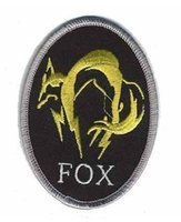 metal badges military - Metal Gear Solid Foxhound Fox Hound Fox Embroidered IRON ON SEW ON Cool Biker Vest Patch Military Badge