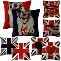 Wholesale Hot Home Textiles Decor Sofa Throw Square Union Jack UK Flag Chenille Cushion Covers Pillowslip cm x cm PX159 Free Shippping