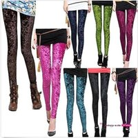 natural color diamond - 2015 color Women Fashion Thin Sexy Soft Diamond Velvet Stretch Printed Galaxy Leggings Slim Pants Tights Pencil Pants MYF211