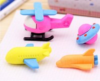 air shuttle - Freeshipping New Arrival UFO eraser set space shuttle eraser air plane eraser pieces per