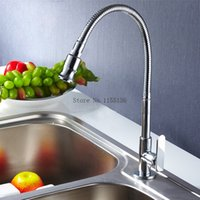 Wholesale Hot Sell Rotation Single tube Kitchen Faucet Chrome Sink Torneira Cozinha Cold Tap Single Handle Faucet