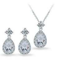 acrylic outdoor furniture - 2016 Mueble De Exterior Outdoor Patio Furniture New High end Fashion Temperament Aaa Grade Cz Necklace Drop Earrings Suit Factory White