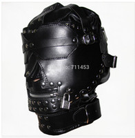 Male adult goggle - Luxury Leather Head Hood Harness Adult Games Hoods Mask Mouth Zipper Goggles Fetish Fantasy Sex Slave Set