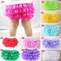 photos clothes - 2015 New Children Summer Cloth Baby Girs Lace Tutu PP Pants Multi color Photo Clothing Underpants Cotton Cloth Diaper Cover Lace Pants M247