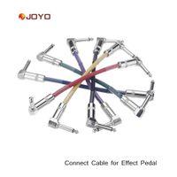guitar accessories - 6pcs set Joyo Guitar Pedal Cable Amplifier Cable Colorful Connect Cable mm Plug Guitar Parts Accessories I465