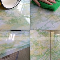 adhesive shelf paper - YAZI Green White Marble Look Vinyl Shelf Drawer Liner Counter Top Contact Paper Self adhesive Wallpaper x500cm