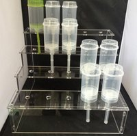 acrylic display containers - 1piece Acrylic base cake pop stand containers push up cakes holder display Stands Lollipop holes