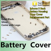 cell parts - For iPhone G Back Housing Cover Case Battery Back Door Replacement Cell Phones Parts Black White Gold Color