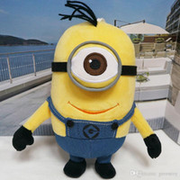 Big Kids 3d holiday gifts - 40CM Despicable Me Minions Plush Doll Plush toy doll D stereo doll yellow eyes Holiday gift