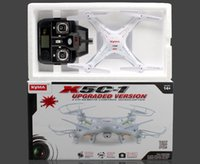 Wholesale New Upgrade Version SYMA X5C GHz CH HD FPV Camera Axis RC Helicopter Quadcopter Gyro GB TF Card with MP Camera