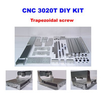 Wholesale Mini T cnc engraving machine frame DIY cnc router frame kits with trapezoidal screw optical axis and bearing