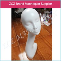abstract female mannequins - ZCZ NEW High cm High Quality Abstract Without Make Up Female Mannequin Head Maniqui Wig Hat Jewelry Display DX098