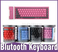 wireless silicone keyboard - bluetooth keyboard mini keyboards wireless Universal Roll UP Foldable Silicone Bluetooth Mini Keyboard for iPhone iPad Tablet Android Laptop